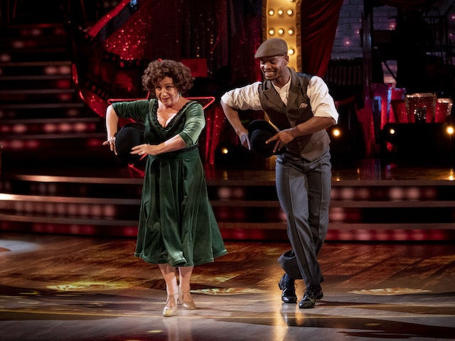 Caroline Quentin and Johannes Radebe on Strictly Come Dancing week three on November 7, 2020
