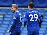 Chelsea duo Timo Werner and Kai Havertz pictured in October 2020