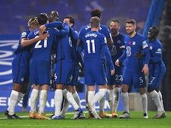 Chelsea players celebrate scoring against Sheffield United on November 7, 2020