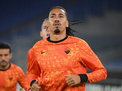 Roma defender Chris Smalling pictured warming up on November 5, 2020