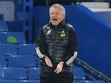 Sheffield United manager Chris Wilder pictured on November 7, 2020