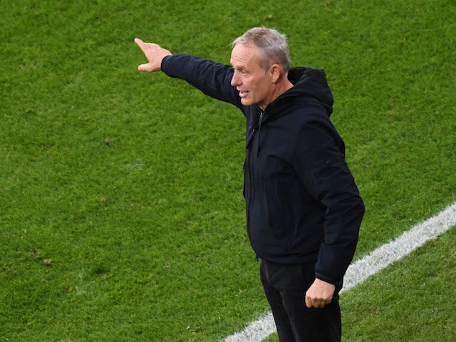 Freiburg head coach Christian Streich pictured on November 7, 2020