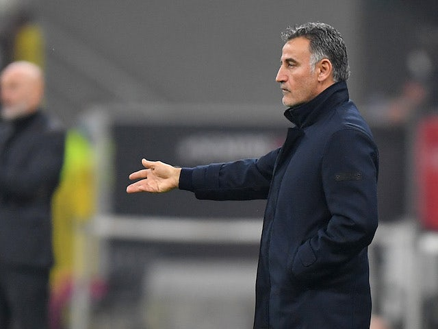 Lille head coach Christophe Galtier pictured on November 5, 2020