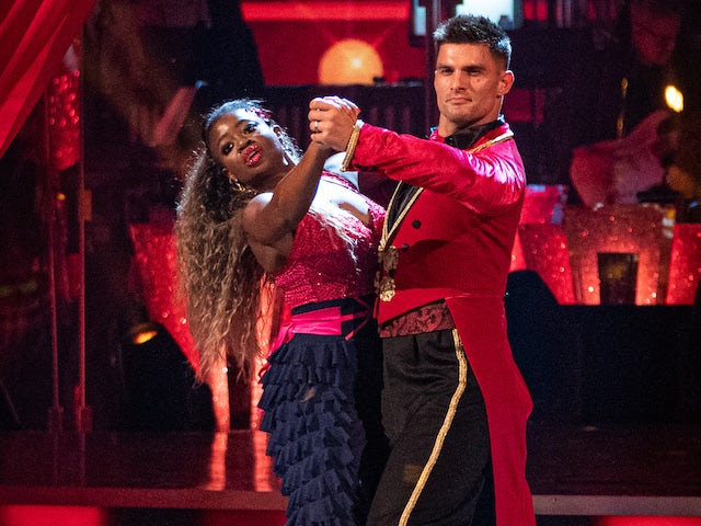 Clara Amfo and Aljaz Skorjanec on Strictly Come Dancing week three on November 7, 2020