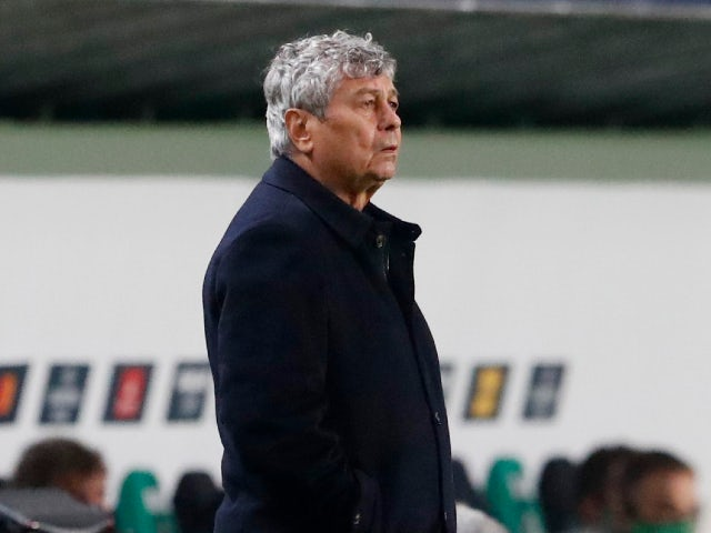 Dynamo Kiev manager Mircea Lucescu pictured in October 2020