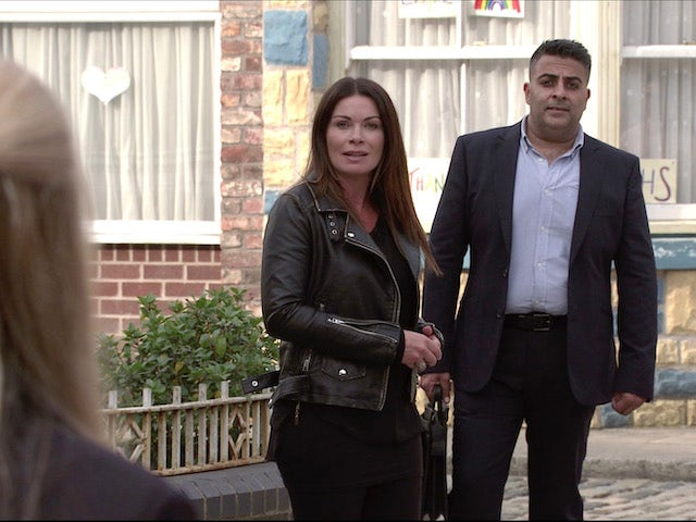 Carla and her client on Coronation Street on November 11, 2020