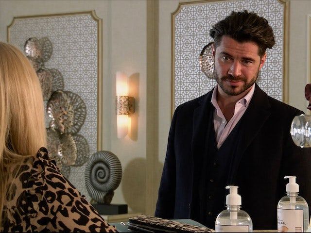 Adam on the first episode of Coronation Street on November 18, 2020