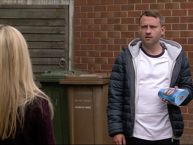 Paul on the first episode of Coronation Street on November 18, 2020