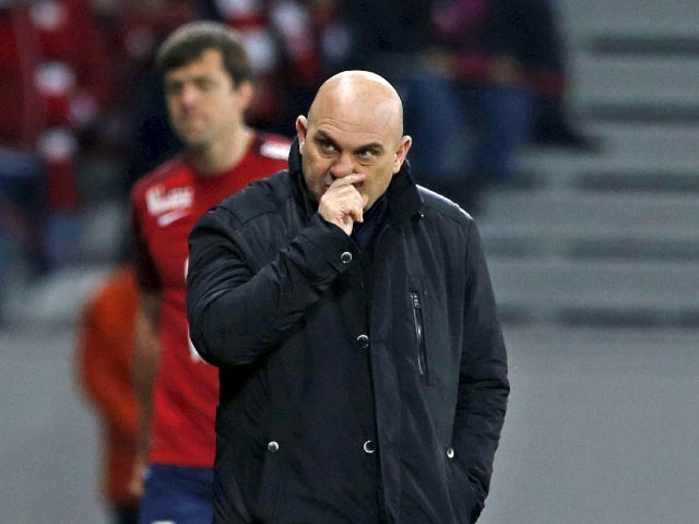 Frederic Antonetti pictured in charge of Lille in April 2016