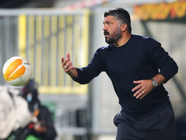 Napoli manager Gennaro Gattuso pictured on November 5, 2020