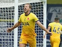 Tottenham Hotspur's Harry Kane celebrates scoring against West Bromwich Albion in the Premier League on November 8, 2020