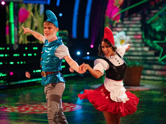 HRVY and Janette Manrara on Strictly Come Dancing week three on November 7, 2020