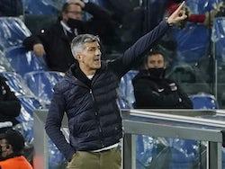 Real Sociedad head coach Imanol Alguacil pictured on November 5, 2020