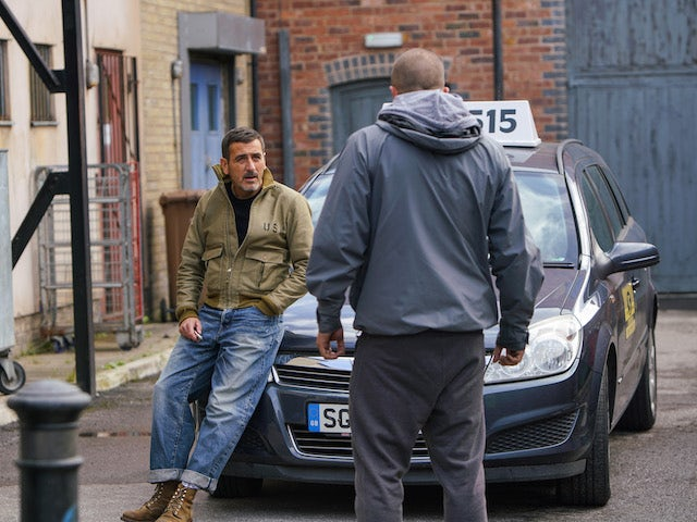 Peter and a thug on the first episode of Coronation Street on November 16, 2020
