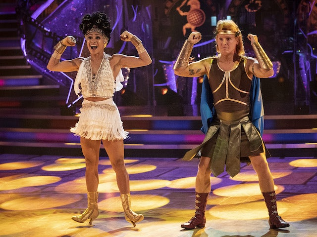 Jamie Laing and Karen Hauer on Strictly Come Dancing week three on November 7, 2020