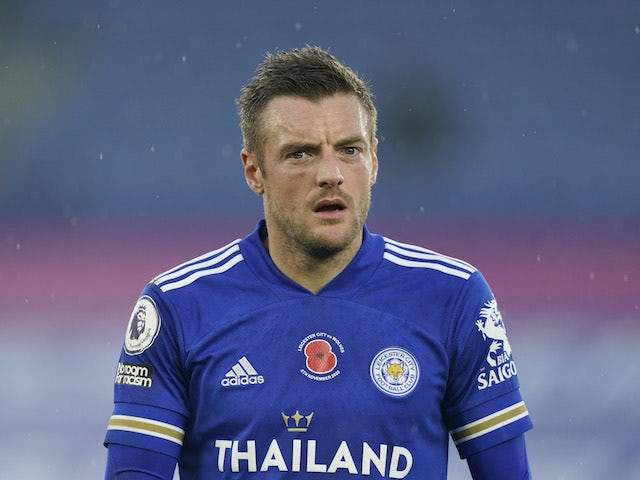 Leicester City forward Jamie Vardy pictured on November 8, 2020