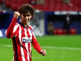 Atletico Madrid forward Joao Felix celebrates scoring on November 7, 2020