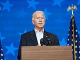 Joe Biden speaks on November 5, 2020