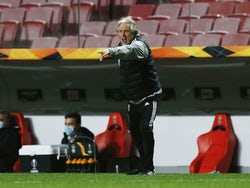 Benfica head coach Jorge Jesus pictured on November 5, 2020