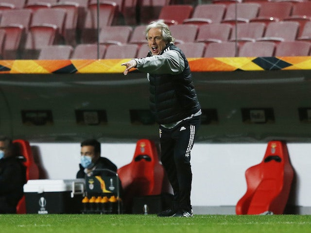 Jorge Jesus: 'Europa League is not a lifeline to save season'