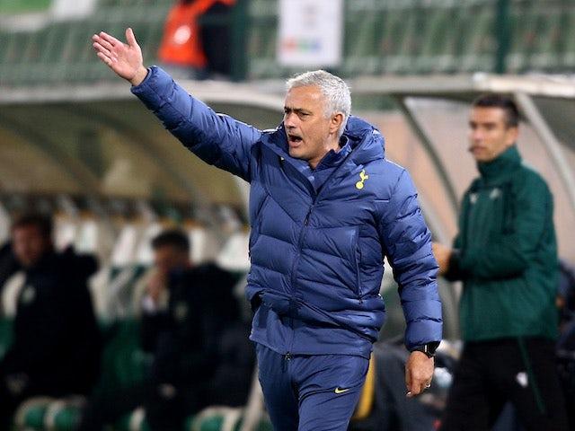 Tottenham Hotspur head coach Jose Mourinho pictured on November 5, 2020