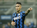 Lautaro Martinez in action for Inter on October 31, 2020