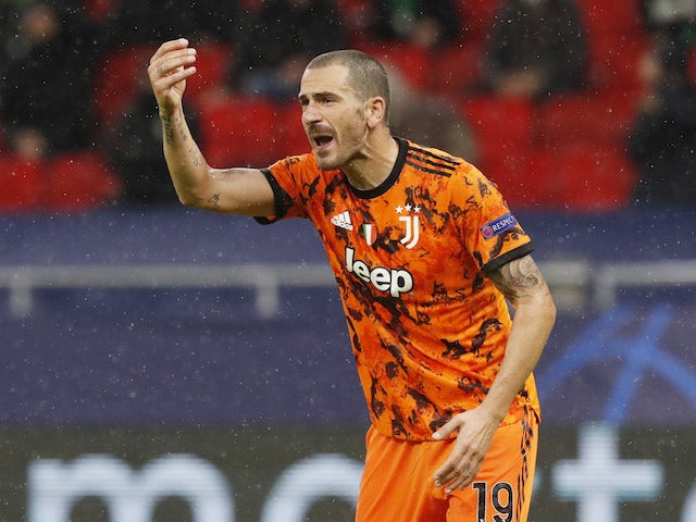 Juventus defender Leonardo Bonucci pictured on November 4, 2020