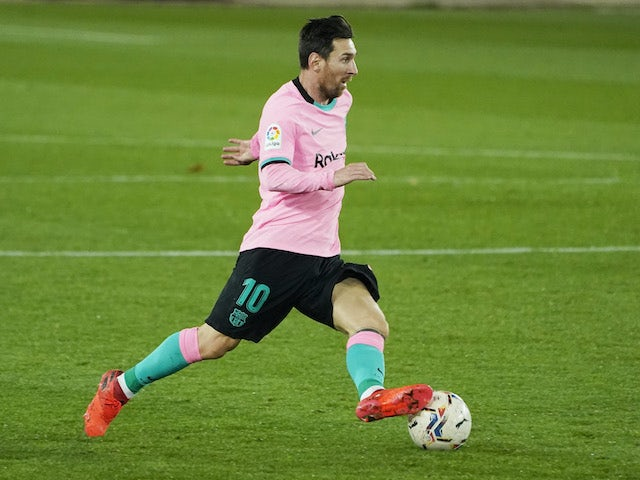 Lionel Messi in action for Barcelona on October 31, 2020