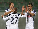 Tottenham Hotspur's Lucas Moura celebrates scoring against Ludogorets Razgrad in the Europa League on November 5, 2020