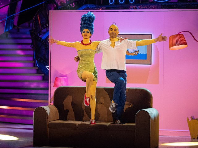 Max George and Dianne Buswell on Strictly Come Dancing week three on November 7, 2020