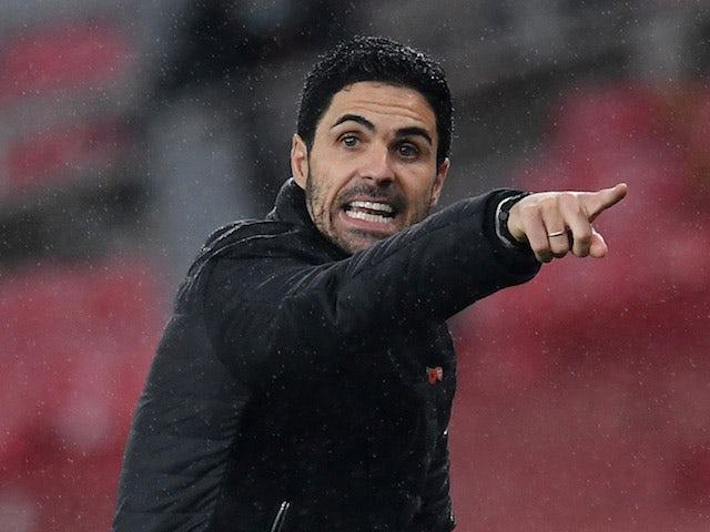 Arsenal manager Mikel Arteta pictured on November 8, 2020