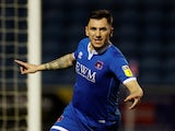 Nathan Thomas in action for Carlisle United in January 2020