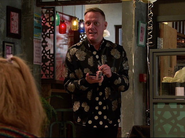 Sean on the second episode of Coronation Street on November 16, 2020