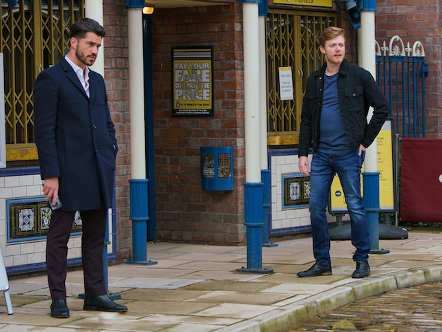 Adam and Daniel on the second episode of Coronation Street on November 20, 2020
