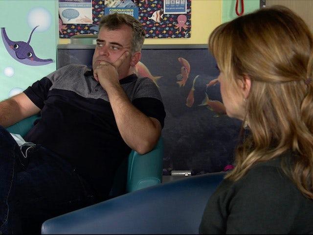 Steve on the first episode of Coronation Street on November 16, 2020