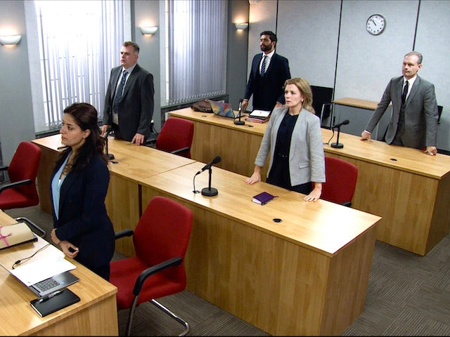 The court hearing on Coronation Street on November 13, 2020