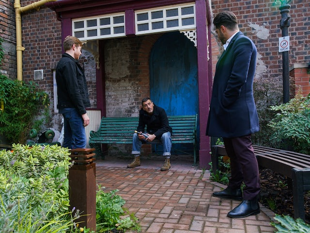 Adam, Daniel and Peter on the second episode of Coronation Street on November 20, 2020