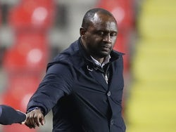 Nice manager Patrick Vieira pictured during the Europa League on November 5, 2020