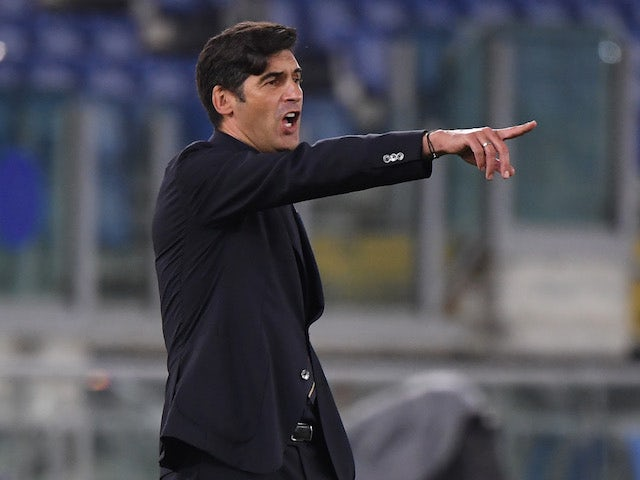 Roma head coach Paulo Fonseca pictured on November 5, 2020