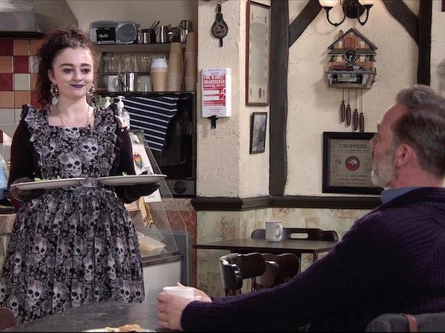 Nina on the first episode of Coronation Street on November 9, 2020