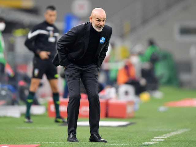 AC Milan manager Stefano Pioli pictured on November 8, 2020