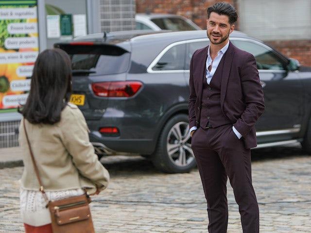 Adam on Coronation Street on November 11, 2020