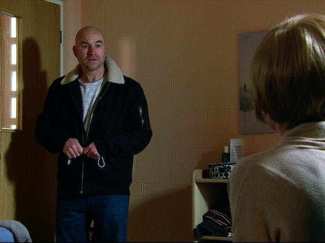 Tim on the first episode of Coronation Street on December 2, 2020