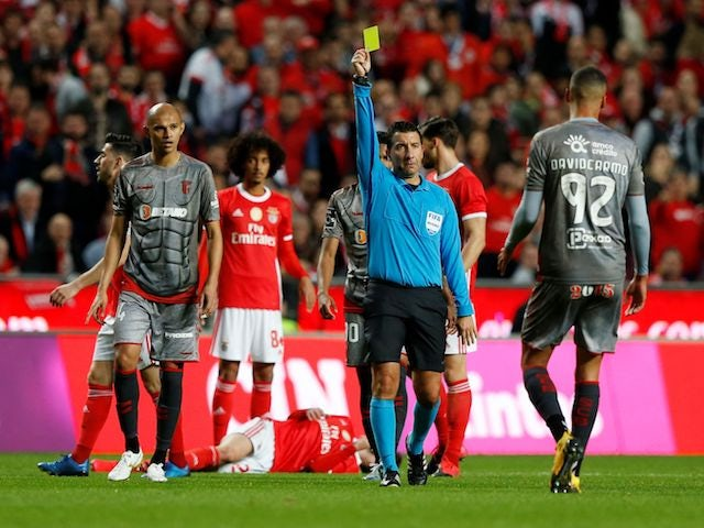 Braga's David Carmo in action against Benfica in the Primeira Liga on February 15, 2020