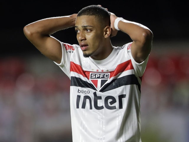 Sao Paulo forward Brenner pictured in November 2020