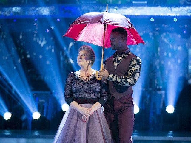 Caroline Quentin and Johannes Radebe on week four of Strictly Come Dancing on November 14, 2020