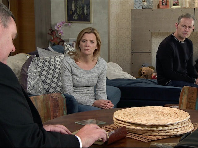 Leanne and Nick on the first episode of Coronation Street on November 30, 2020