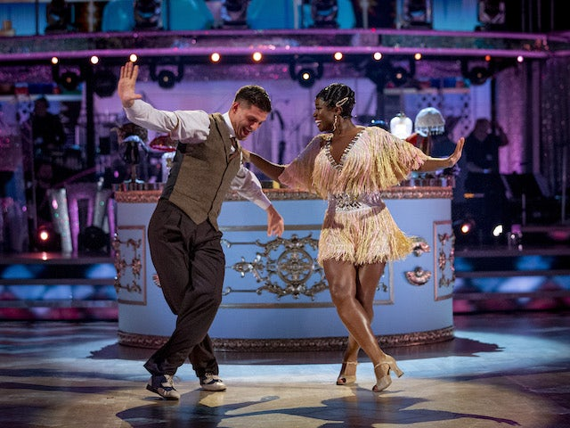 Clara Amfo and Aljaz Skorjanec on week four of Strictly Come Dancing on November 14, 2020