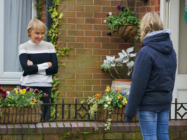 Sally and Abi on the first episode of Coronation Street on November 30, 2020