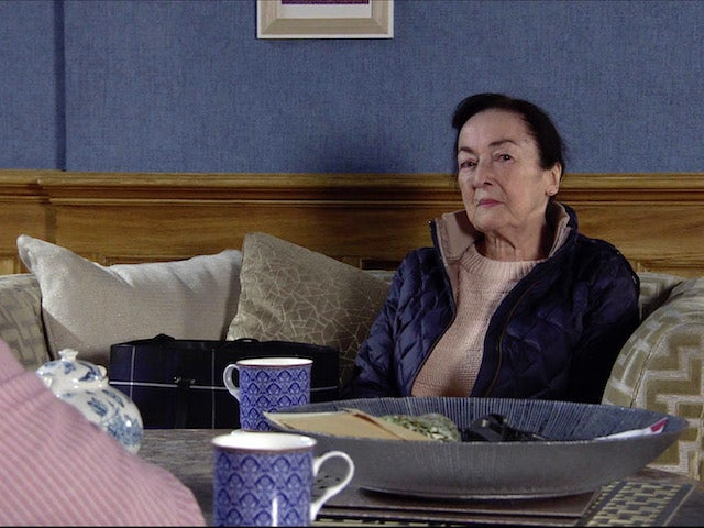 Margaret on the first episode of Coronation Street on November 25, 2020
